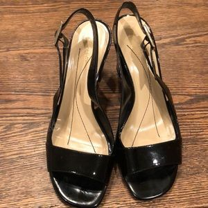 Kate Spade Black Patent Leather Slingback Pumps